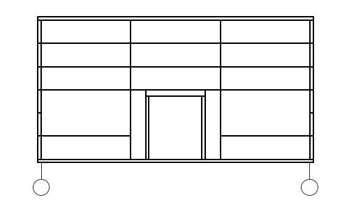 Фасад здания чертеж