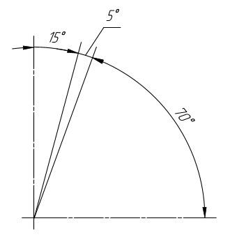 Угловые размеры на чертеже