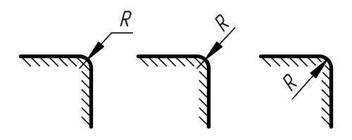 Как показать радиус на чертеже