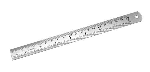 Линейка измерительная металлическая